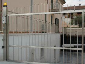 Cancello carraio in inox