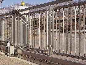 Cancello scorrevole in inox