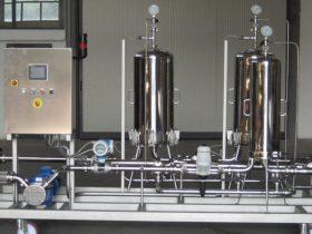 Impianto di microfiltrazione per vino
